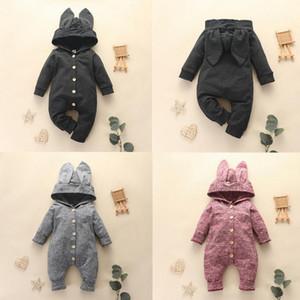 Tulumlar Kapüşonlu Bebek Tulum Sonbahar Doğan Giysi Pamuklu Erkek Giyim Setleri Bahar Roupa Bebek