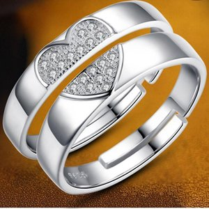 Yada Gifts Love Big Heart Rings For Men&women Girl Lovers Couples Ring Engagement Wedding Jewelry Crystal Ring Rg200020 sqcWHA