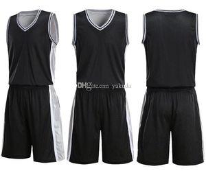 NCAA Üst Erkekler Boş Çift Taraflı Basketbol Takımı Üniformaları Kitleri Spor Giyim Eşofman, Kişilik Özelleştirilmiş Basketbol Setleri SHO ile Tops