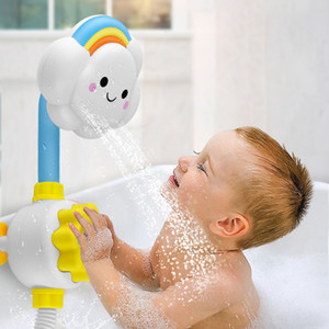 Bath Toys for Kids Baby Water Game Clouds Model Faucet Shower Water Spray Toy For Children Squirting Sprinkler Bathroom Baby Toy F1216