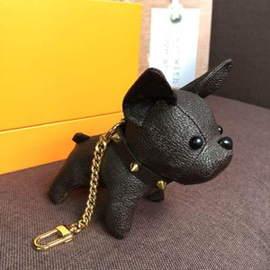 جودة عالية سلاسل المفاتيح الأزياء مفتاح مشبك محفظة قلادة أكياس كلب نمط تصميم حقيبة دمية سلاسل المفتاح أبازيم 6 اللون