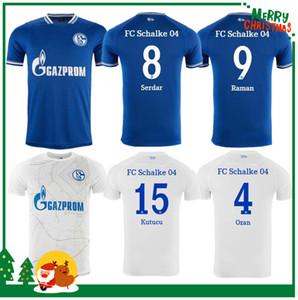 2020 2021 Schalke Ev Mavi Futbol Forması 20/21 Schalke 04 Uzakta Futbol Gömlek