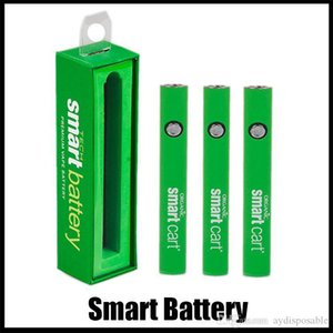 Smart Battery 510 Thread Battery Vape Pens Preheat Battery EGO T Variable Voltage For SmartCart Thick Oil Vaporizer Pen Box Packaging