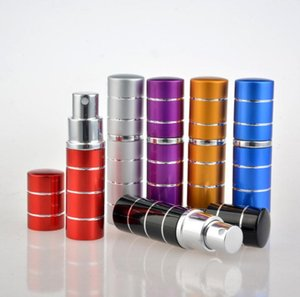 7 colors 10ml 10CC 5CC 5ML Mini Colorful line Travel Spray Perfume Bottles Refillable Portable Empty Atomiser SN2761
