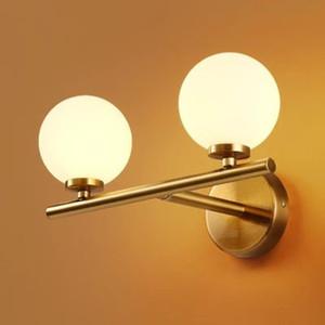 Creative personality molecular light glass ball wall lamp simple post modern living room bedroom aisle lights wf4241558