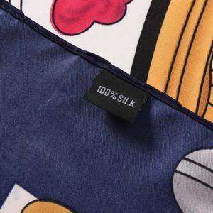 2020AW Girl's Silk Scarfs Large Fashion Square Scarfs and Shawls Wraps Hijab Pashmina Beautiful POP Design Neck Warmer Winter Muffler Female