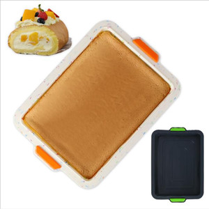 Brownie Cake Bakeware Rectangular Silicone Molds Cake Pans Toast Mold Kitchen Baking Tools Cake Moulds Home Kitchen Bakeware DHB3614