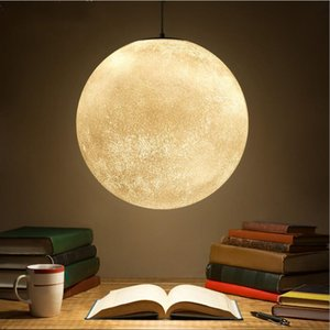 Creative moon chandelier modern simple dining room bedroom study lamp Nordic acrylic single head moon Chandelier