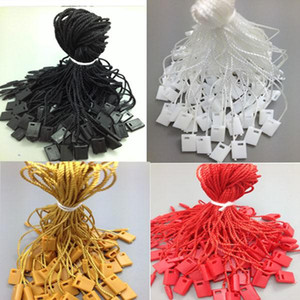 1000 PCS Clothing Sunglass Jewlery Tag String Lock Fastener Labeling Tagging Supplies square end Regular hanging tablets tag