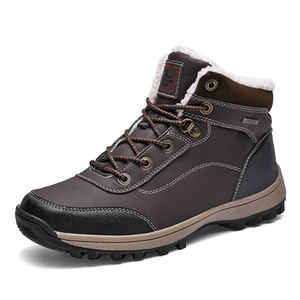OEIN Warm Shoes Casual Male Brand Genuine Leather Lace-up Non-slip Ankle Work Boots Doc Martens Men 2020 Q1202