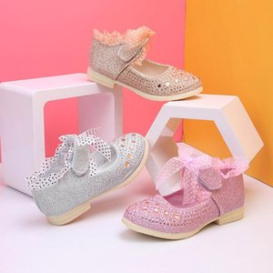 ARLONEET Shoes 2020 four seasons Kid Girls Boys Leather Anti-slip Princess Lace Shoes Child Baby Casual Party Dot Sole