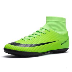 Scarpe da calcio ad alta caviglia da calcio Lace Up Sneakers da calcio Uomini antiscivolo Ragazzi Zapatos de Futbol Profesionales Scarpe Futsal Dimensioni 35-45