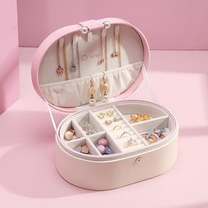 Jewlery Box Large-Capacity Jewelry Storage Box Hand Jewelry Ear Stud Earrings Ear Stud