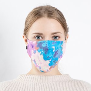 Straight printing color stereo Mask Adult outdoor dustproof 3D washable