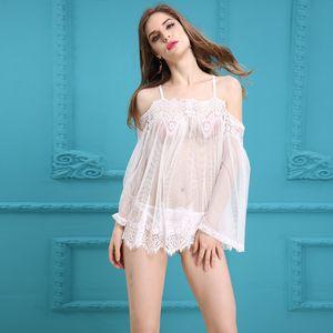 Jiahuige кружева прозрачные женские одежда Babydoll Top Продажа эротического сексуального белья горячего сна