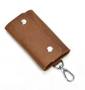 KEY POUCH PU POCHETTE CLES Designer Fashion Womens Mens Key Ring Credit Card Holder Coin Purse Luxury Mini Wallet Bag Charm Brown Canva