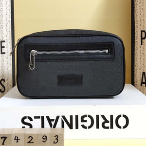 Горячие талии сумки мужчин w24xh14xd5cm настоящие кожаные мешки из ПВХ печатные роскоши дизайнеры ждут сумки талии мужские сундук