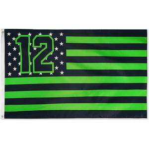 Seahawks Star and Stripes Flag، 100٪ البوليستر النسيج الطباعة الرقمية الزخرفية جميع البلدان الوطنية، حرية الملاحة