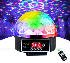 Stage Lamp Led Disco Light Laser 9 Colors DJ Sound Party Light Christmas Projector Soundlights Led Disco Ball Light