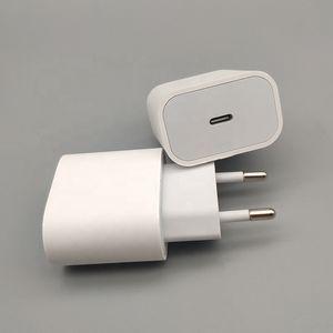 Usb C carregador de parede 20W 18W entrega de potência PD Adaptador de carregamento rápido Tipo C Porta Plug para iPhone 12 Pro Max Huawei