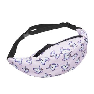 Top 2020 High Quality Fashion New Digital Printing Unicorn Outdoor Waist Bag Sports Travel Running Fitness Women Diagonal Bag Hot Sale