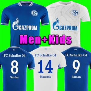 2020 2021 Хундлаар Футбол Футбол Кутуку 20 21 Serdar FC Schalke 04 Harit Raman Футбольная футболка Ozan Harit Home Blue Away Белые Джерси Мужчины