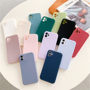 Soft TPU Cover Ultra Slim Candy Colors Phone Case For iphone 12 11 Pro Max XS XR X 6 6s 7 8 plus