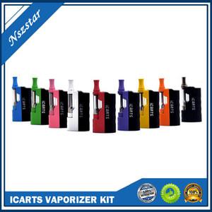 Icarts V2 Imini V2 Versão atualizada Kits 650mAh Pré-aqueça Box Mod bateria com 1,0 ml Vape Cartuchos para Thick Oil