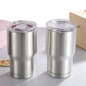 14oz Kids Tumbler Coffee Milk Mug 304 Stainless Steel Double Wall Vacuum Insulated Mugs Beer Cups Drinkware With lids child Cup RRA3915