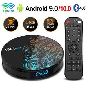 HK1 Max Smart TV Box Android 9.0 4 GB 128 GB TVBOX 2.4G / 5G Wifi RK3318 Quad-Core BT 4.0 Set Top Box 4G 32G 64G 4K HD Media Player Android 10.0
