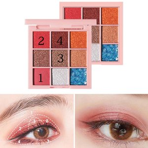 9 Colors Hot Eyeshadow Palette Matte Shimmer Pigmented Shiny Eye Shadow Powder Beauty Make Up Palettefafa