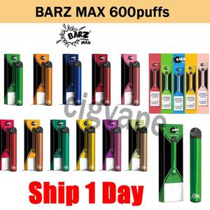 Original Barz Max Disposable Vape Pod Device 600 Puffs puff bar Battery 2ML Pod Cartriges Empty Cartridge E-cigarette Kit Perfect Device