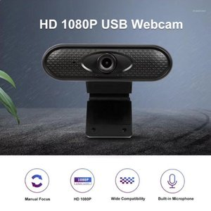 Mini Full HD 1080P Webcam USB Elevato per definizione trasparente PC Computer PC Computer Webcam Microfoni stereo integrati per laptop1