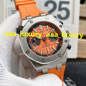 26703 Montre de Luxe 7750 Diâmetro de Movimento Automático: 42mm Super Luminosos 316L Caso de Aço Fino Cronógrafo Mens Relógios
