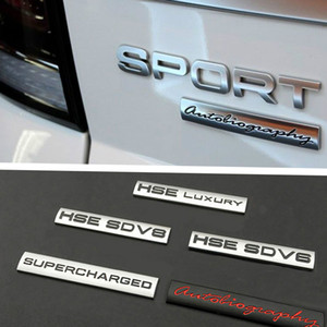 Land Rover HSE V6 V8 Autobiyografi için 1 2 3 4 Freelander Range Rover Evpque Keşif Defender Velar Araba Vücut Alaşım Amblemi