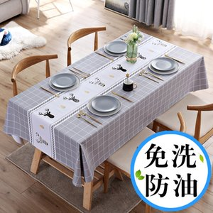 The New Nordic tablecloth is waterproof, scald proof, oil resistant and washable, cloth, desk, INS, student table cloth
