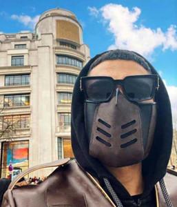 2021 Top Qualität Modedesigner Gesichtsmaske für Männer Damen Leder Luxe Mann Wiederverwendbare waschbare Mund Masken Masken mit Kasten Staubbeutel