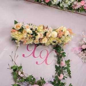 0.5 1M DIY Wedding Artificial Rose Fake Flowers Row Wall Arrangement Supplies Artificial Silk Rose Peony Flower Decor