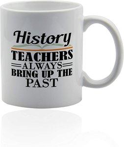 Grugni di insegnante di storia divertente 11 once. Tazza in ceramica bianca. Tazza dell'insegnante di storia.