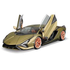 BBurago 1:18 لامبورغيني-سيلا FKP 37 سيارة رياضية ثابت يموت الصب سبيكة جمع نموذج سيارة لعبة هدية