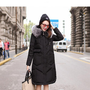 2020New winter In the long section Down jacket Large size Loose thin White duck down Women coat