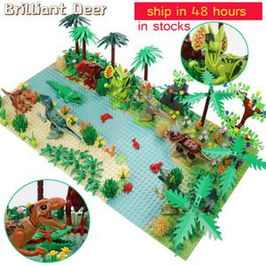 New Jurassic Dinosaur World Tree Forest Animal Action Figures Building Blocks Compatible City DIY MOC Bricks Kids Toys Y1130
