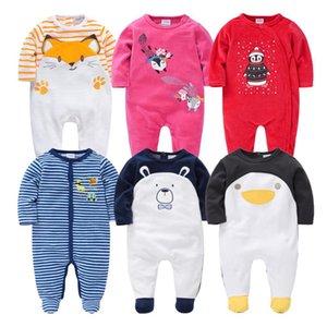 Winter Velvet Infant Boys Overalls 2pcs Baby Girl Jumpsuit christmas Romper warm clothing for kids Q1122