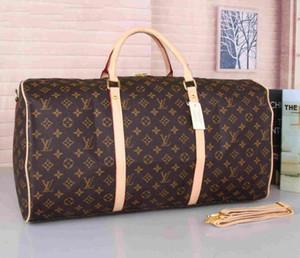 55cm 대용량 여성 남성 PU 가죽 여행 가방 유명한 클래식 디자이너 판매 고품질 남성 어깨 더플 가방 수하물에 휴대