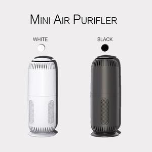 Мини Портативный очиститель воздуха для домашнего офиса Desktop Автомобиль с активированным углем HEPA фильтр Mini USB Air PurifierM9