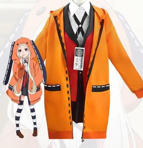 Anime Kakegurui Cosplay Figur Yomotsuki Runa Cosplay Kostüm Mantel JK Schulmädchen Uniform Hoodie Halloween Kleid Für Frauen Mädchen