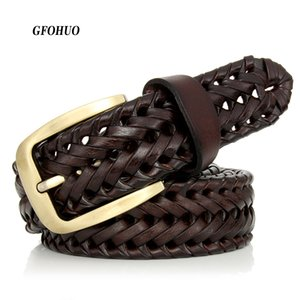 New Braided Belt Man Fashion Mens belts luxury genuine leather Good Cow second layer skin straps men for Jeans girdle Male 201117