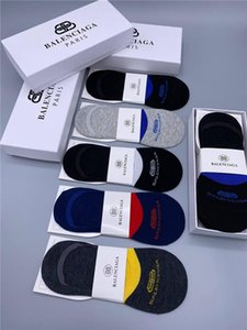 Moda al por mayor Balanciaga Brand Designer Hombres Calcetines para hombre Baloncesto Hombres Calcetines de lujo 5 pares / Mujeres Bulk Mujeres Diseñadores Ropa