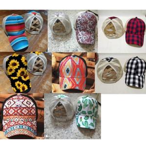 2021 para mujer a cuadros a ras de caballo casquillo de caballo gorras de béisbol Criss cruz ajustable malla sombrero girasol leopardo camionero gorras sombreros sol visor de la cabeza h2309