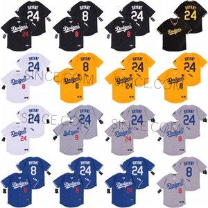 2020 NUEVO LOS ÁNGELES 8 24 Bryant KB Black Mamba Dodgers Jersey de béisbol Nombre Nombre cosido Número de cosido Sthipping S-5XL Hombres Mujeres Juveniles